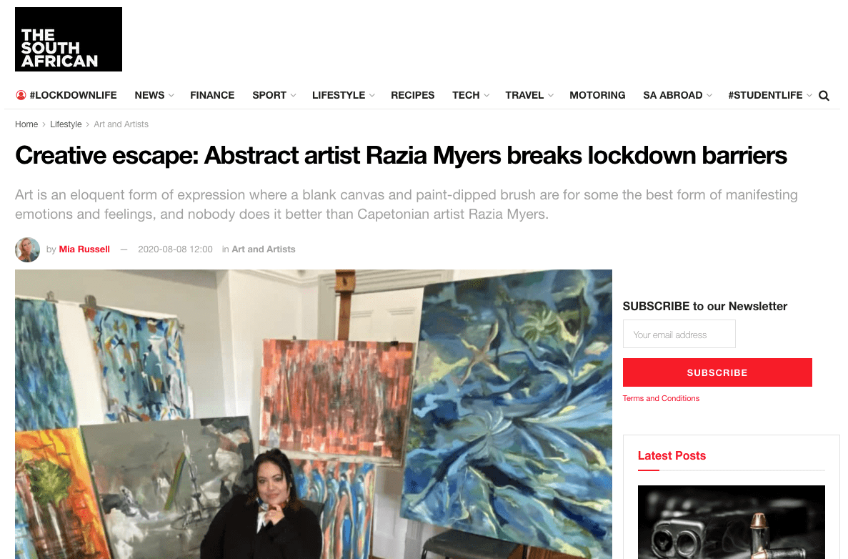 Creative escape: Abstract artist Razia Myers breaks lockdown barriers